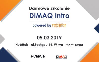 Darmowe szkolenie DIMAQ INTRO