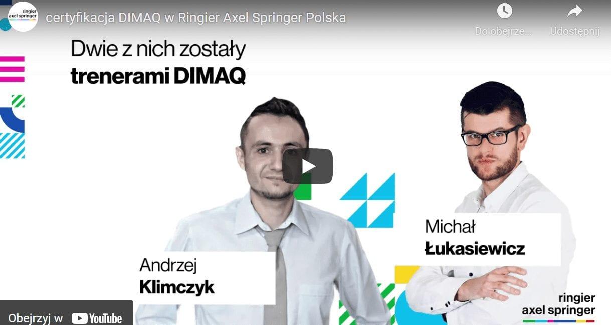 Ringier Axel Springer Polska stawia na DIMAQ