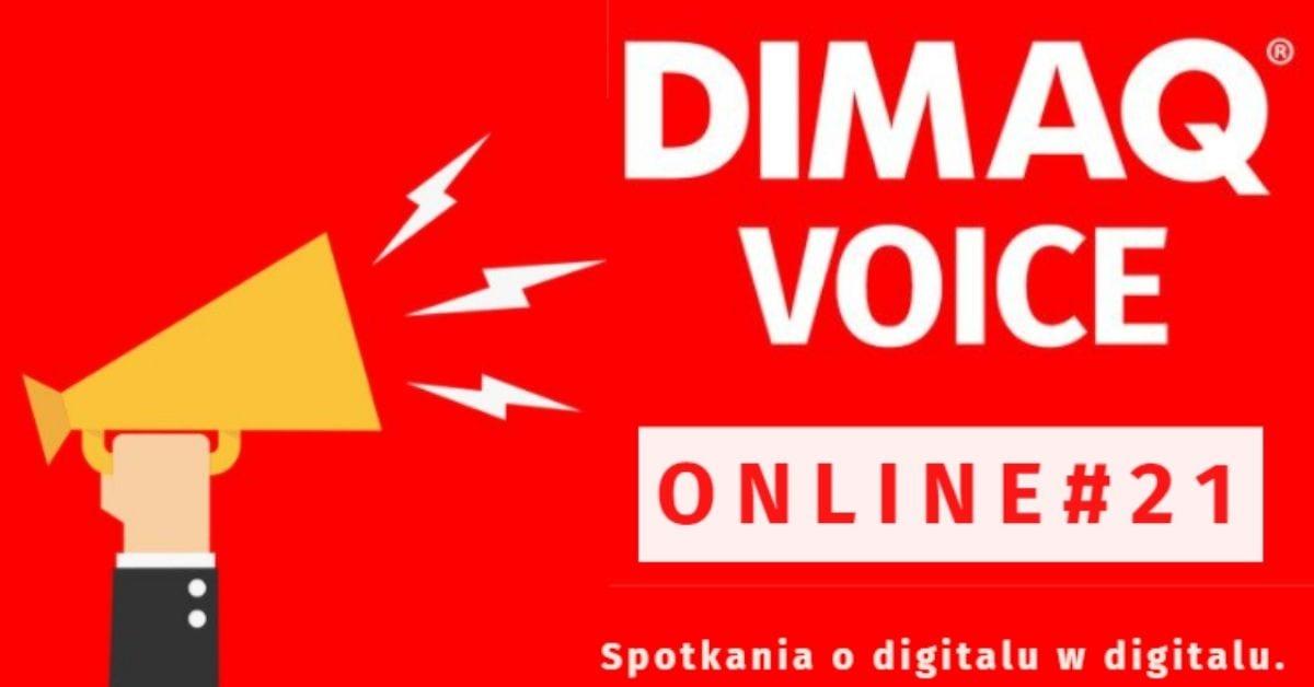 Podcasty, SEO i programmatic tematami dwudziestej edycji DIMAQ Voice Online. Rejestracja otwarta!
