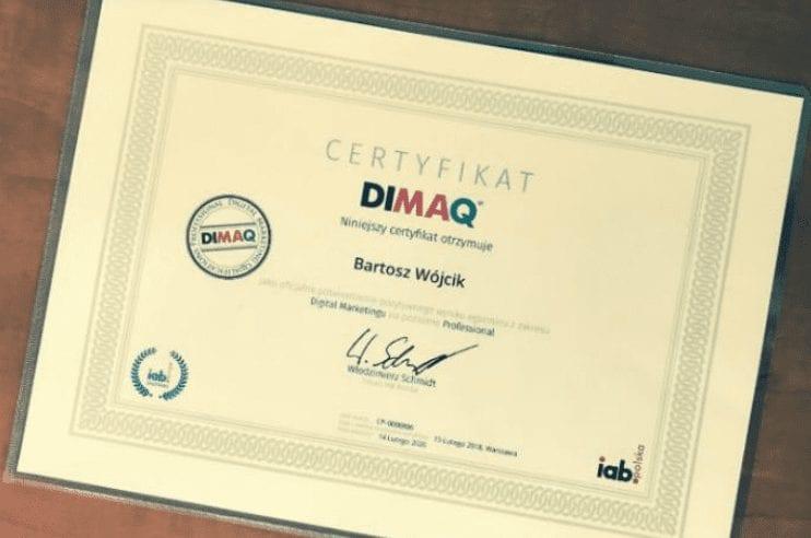Certyfikat DIMAQ -czy warto? Bartosz Wójcik opowiada o swoich doświadczeniach
